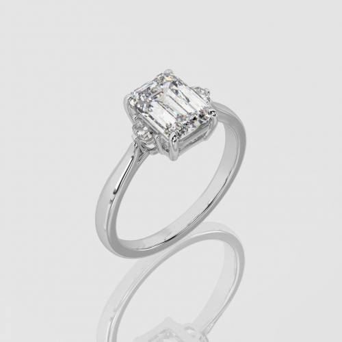 Emerald Cut Engagement Ring | Facets Singapore