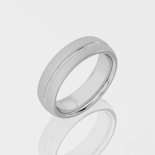 Mens White Gold Wedding Band   Facets Singapore