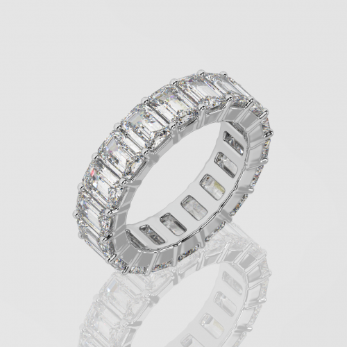 Emerald Cut Eternity Ring   Facets Singapore