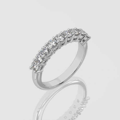 Half Band Eternity Ring   Facets Singapore